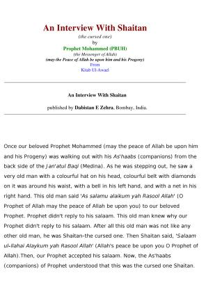 An interview with shaitan download pdf book