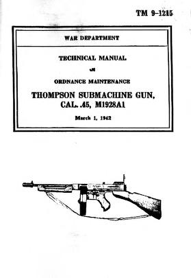 Cover of: Thompson Submachine Gun cal .45, M1928A1 | prepared under the direction of the Chief of Ordnance