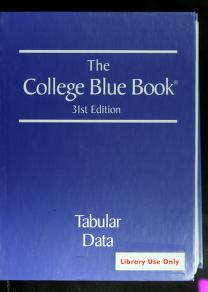 Cover of: The college blue book |