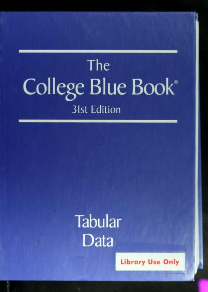 The college blue book by
