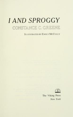 Cover of: I and Sproggy | Constance C. Greene